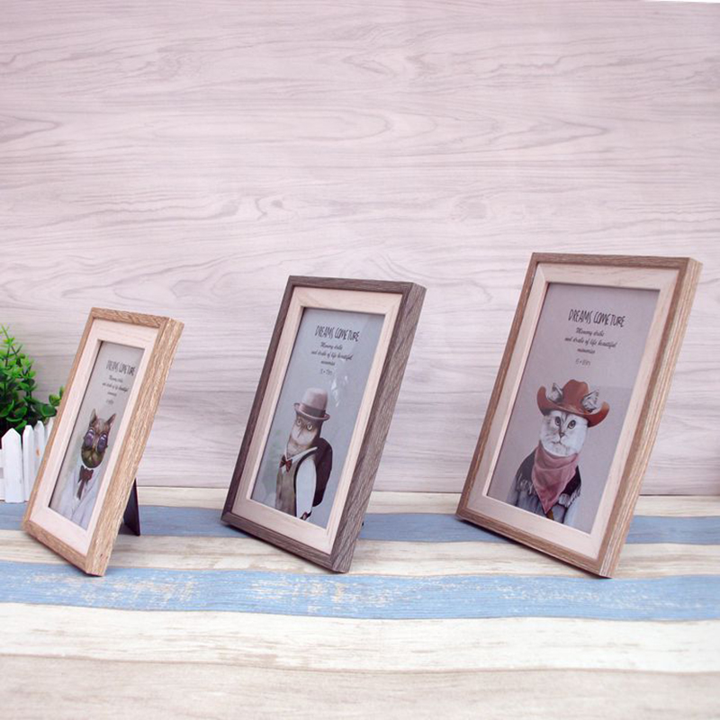 new contracted style muti size home picture wood frame paper decorative hanging wall frame personality articles