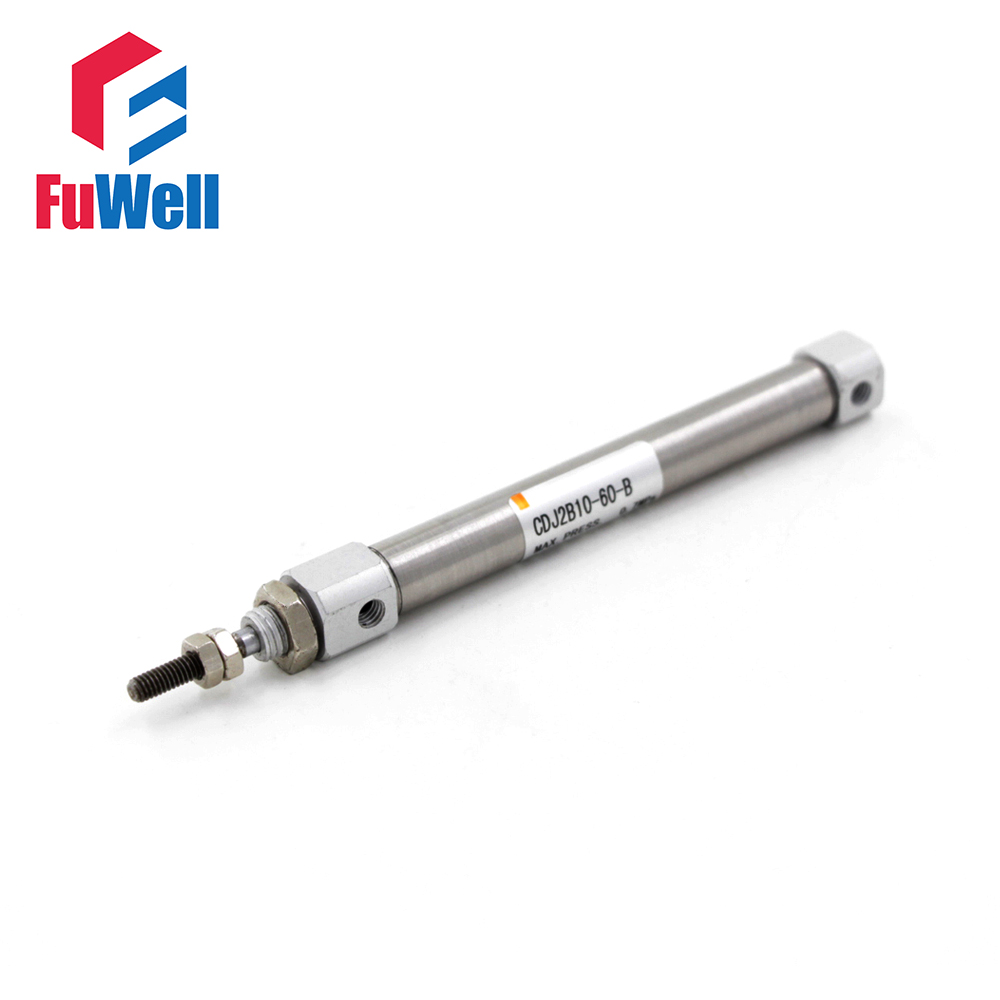 Free Shipping CDJ2B Type Mini Pneumatic Cylinder Double Acting Single Rod 10mm Bore 60/75/90/100/125/150mm Stroke Air Cylinder single rod double acting pneumatic cylinder cdj2b16 80