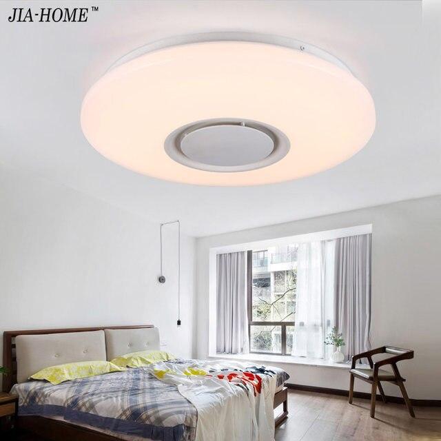 Musik Led Deckenleuchte Mit Bluetooth Steuer Farbwechsel Beleuchtung  Unterputz Lampe Für Schlafzimmer Deckenleuchten