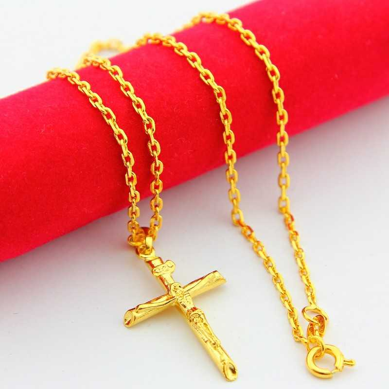 Hot sell New Beautiful Fashion Pure gold color necklaces & pendants crossfit choker wedding jewelry YHDN113