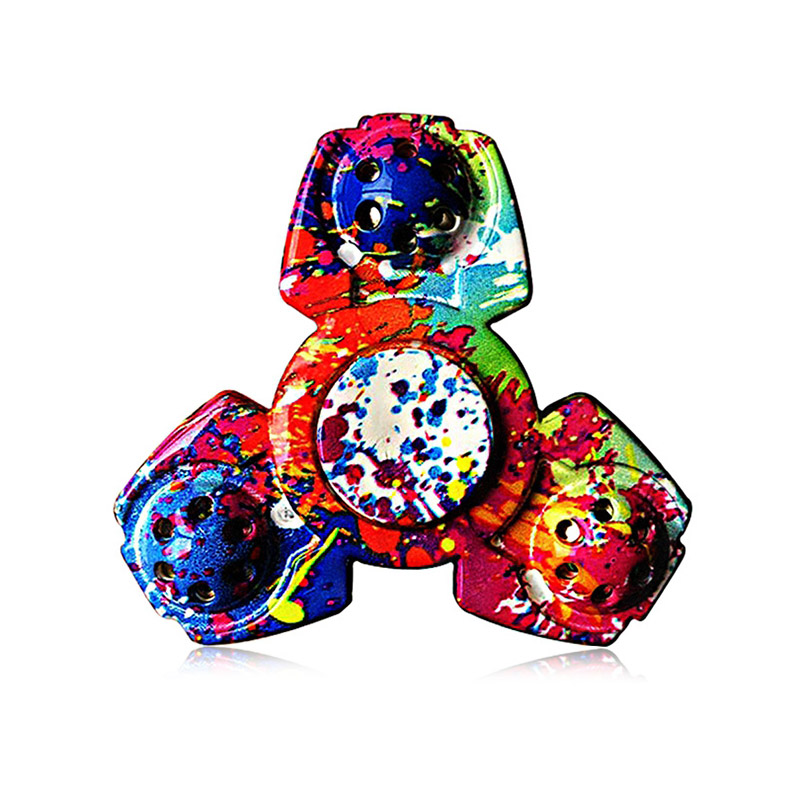2017 Colorful Triangular ADHD Adult Fidget Spinner Funny Stress Reliever Toy