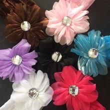 1 шт. / Лот ленты для волос студентов деко канцелярские эластичный цветок с бриллиантами повязки