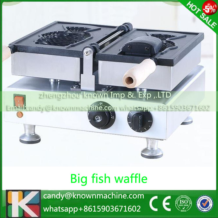 single head open-mounth Korean style Taiyaki ice cream cone machine