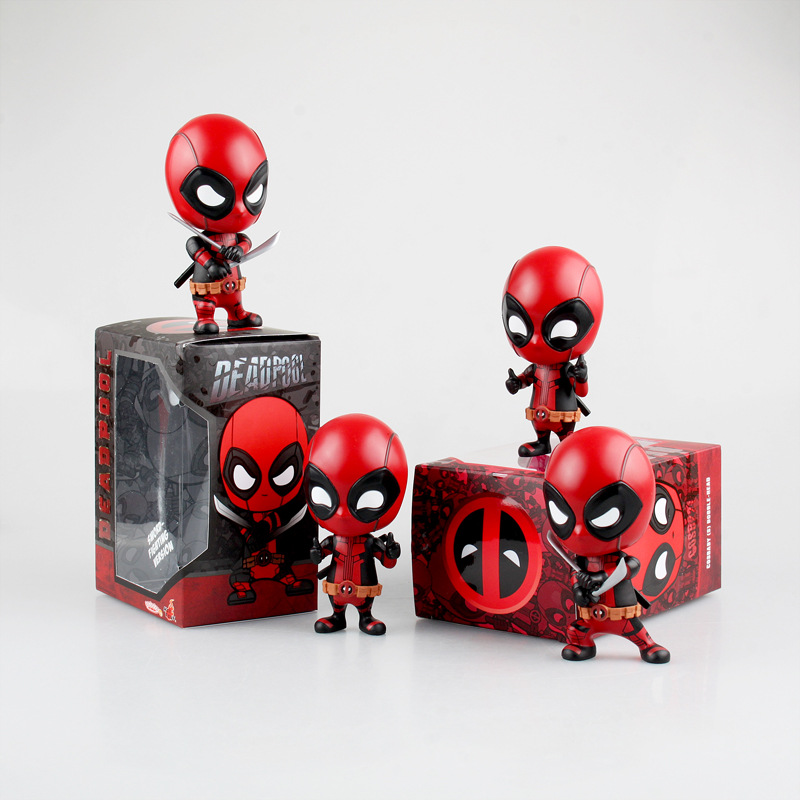 Movie New Mutants Deadpool Wade Winston Wilson Xmen Cute Q Cosbaby Bobble Head 10cm Cartoon Toy