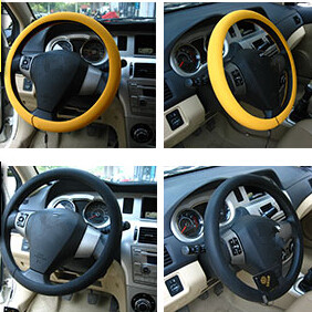 Car-styling Silicone Steering Wheel Skin Cover For Mitsubishi ASX Outlander Lancer Colt Evolution Pajero Eclipse Grandis FORTIS