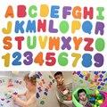 Brinquedo Do banho 36 pcs Educacional Brinquedo Banho Flutuante Letras & Números vara no Banheiro FCI #
