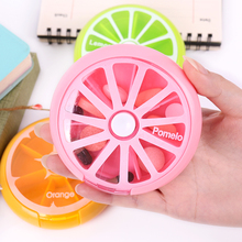 1PC Weekly Pill Travel Medicine Box Dispenser Capsule Holder Organiser Case Organizer Rotating 7 Day Container