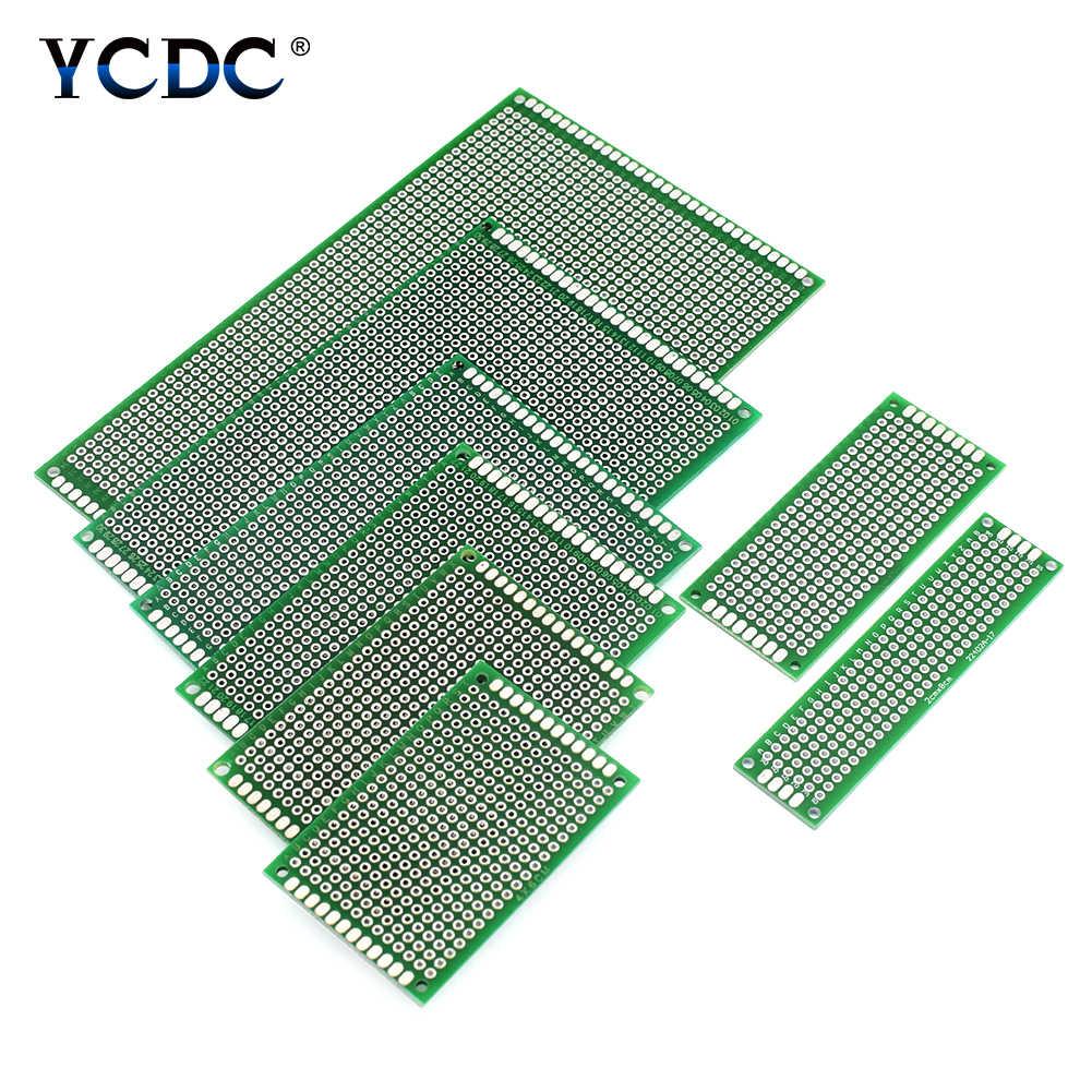 8 גדלים PCB מעגלים מודפסים אב טיפוס לוח דו צדדי רצועת טיפוס