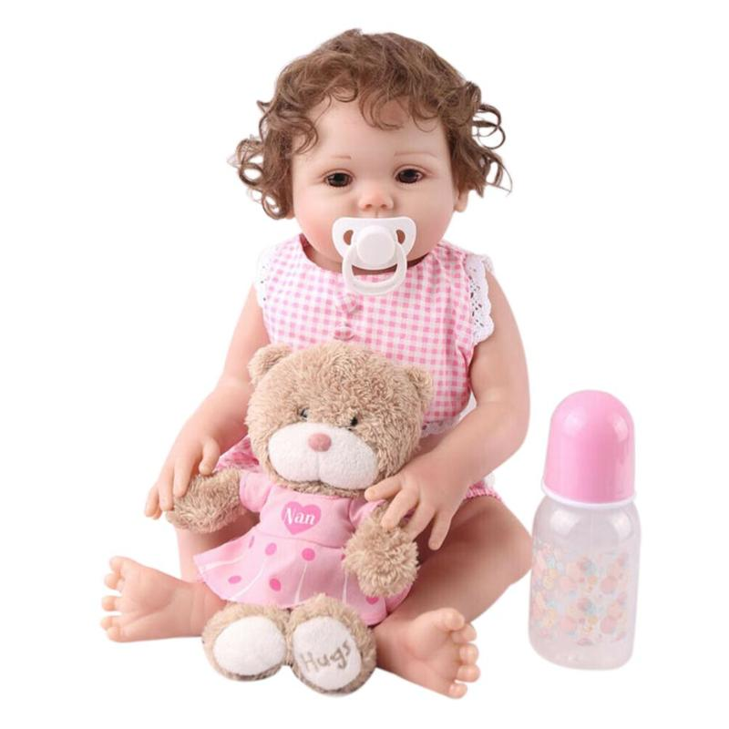 48cm Lifelike Reborn Baby Vinyl Doll Toy for Kids Birthday Gifts w/Clothes48cm Lifelike Reborn Baby Vinyl Doll Toy for Kids Birthday Gifts w/Clothes