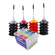 цена на Refill ink kit for T1711 - T1714 ink cartridge for EPSON Expression Home XP-33 103 203 207 303 306 403 406 313 323 413 423