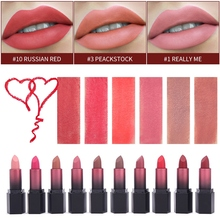 цены на Hot Sales Waterproof Matte Velvet Glossy Lip Gloss Lipstick Lip Balm Sexy Red Lip Tint 10 Colors Women Fashion Makeup Gift  в интернет-магазинах