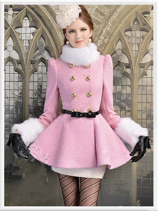 Aliexpress.com : Buy sweety winter coat women light pink wool coat