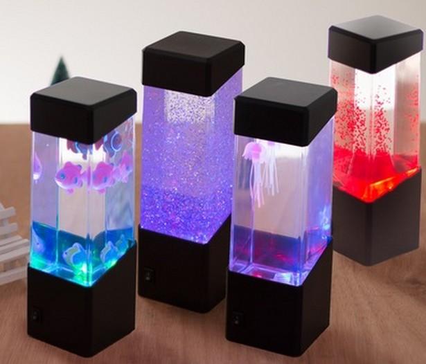 kleine aquarium volcano lampe gelee lampe blitzen. Black Bedroom Furniture Sets. Home Design Ideas