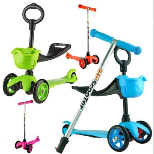 3 In 1 New Design Scooter Kid Child Toddler Push Kick 3 Wheel Car