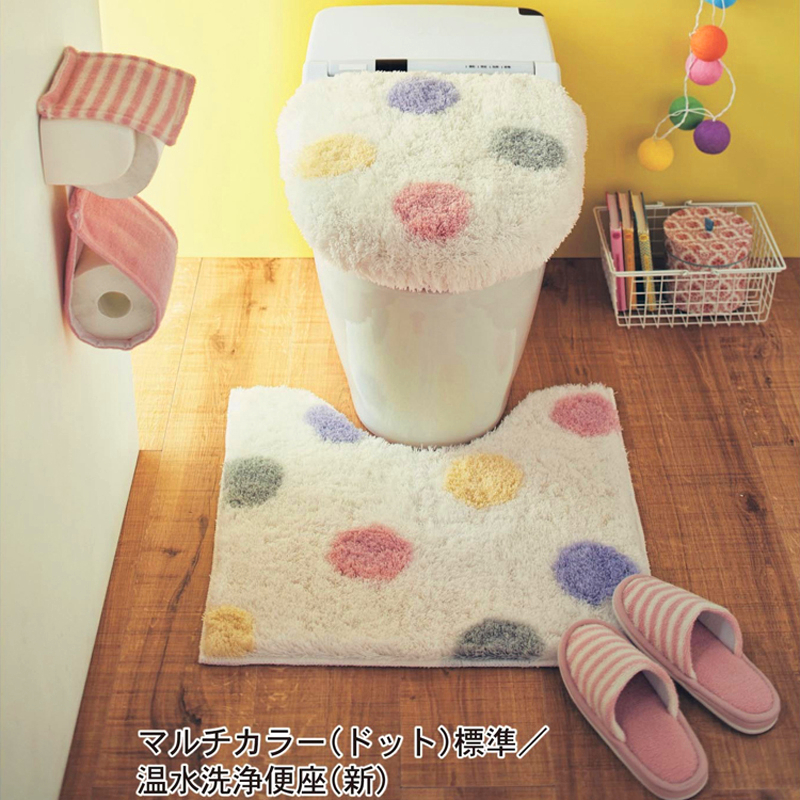 Japan Belle Maison Original single Universal High quality toilet seat cover Toilet Lid cover Cute toilet ring Bathroom Mat in Toilet Seat Covers from Home Garden
