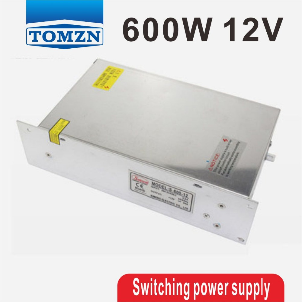 600W 12V 50A 220V input Single Output Switching power supply AC to DC 1200w 12v 100a adjustable 220v input single output switching power supply for led strip light ac to dc