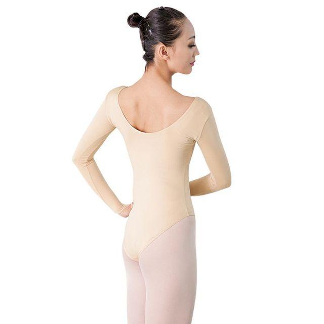 d5d499c921a7 Girls Women Long Sleeve Turtleneck Dance Leotard Sexy Gymnastics ...