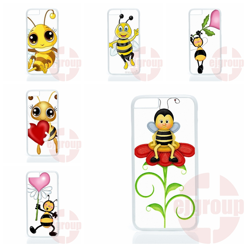 3d cartoon bees style For Moto X1 X2 G1 G2 E1 Razr D1 D3 For BlackBerry 8520 9700 9900 Z10 Q10 Design Black Skin Phone