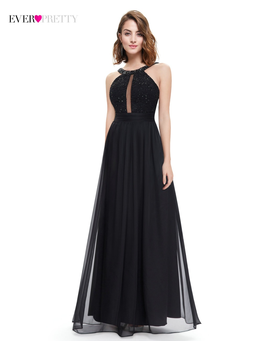 Товар Fast Shipping Black Evening Dresses 2018 Ever-Pretty EP08572BK ... f9ce075d17d3
