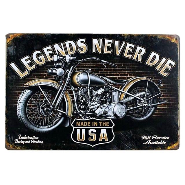 Vintage Metal Tin Signs Motorcycle Retro Plaque Poster Bar Pub Club Wall Tavern Garage Home Decor Plate Art Craft 20*30cm A124