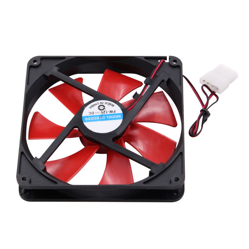 Silent Quiet PC Case Cooling <font><b>Fans</b></font> <font><b>140mm</b></font> DC <font><b>12V</b></font> 4D Plug Computer Cooler New Arrival image