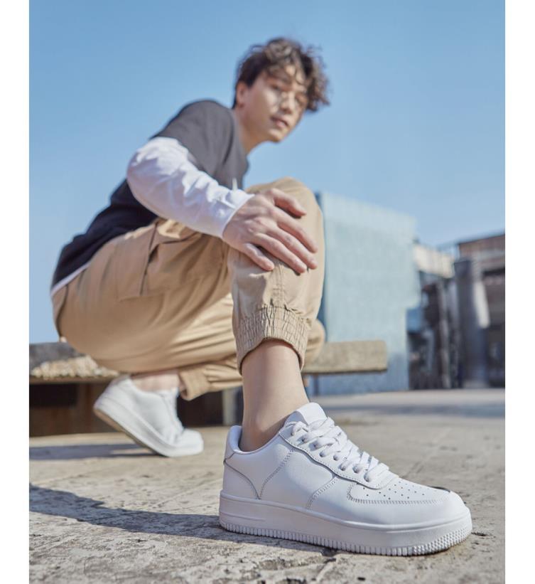 Xiaomi 90 повседневная мужская обувь для скейтборда, спортивные уличные кроссовки из воловьей кожи, нескользящая обувь, обувь на толстой плоско... - 6