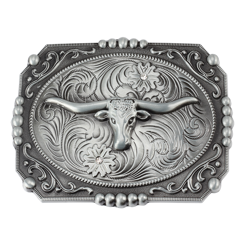 The Western Style Big Agio  Horses And Cow Pattern Belt Buckle