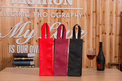 Non woven Wine Bags 33x12x10cm 13inches Customize Logo Printing Bags Compamy Advertisment Promotion Gift Bags Holders Carrier