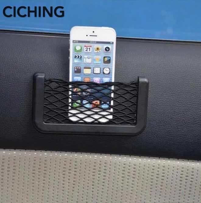 سيارة تخزين صافي حقيبة شبكة منظم جيوب عصا على ل فيات 500 شيفروليه أوبل إنسيجنيا vw golf 5 فولكس فاجن باسات b6 رينو كليو