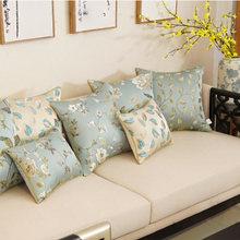 Flor retro hoja almohada/almofadas caso occidentales vintage cómodo asiento funda de cojín para espalda 45 50 60 decorativa funda de almohada
