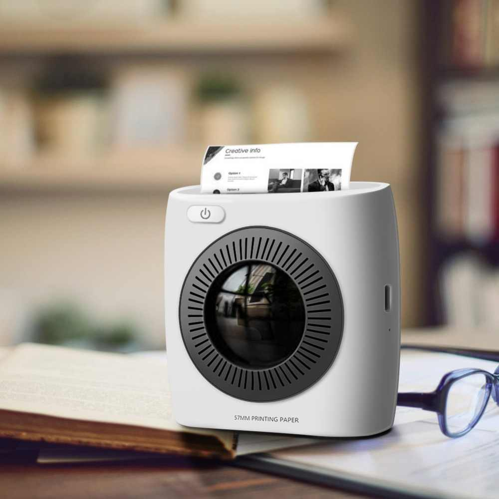 Dropship P2 impresora portátil Bluetooth 4,0 teléfono impresora fototérmica teléfono conexión inalámbrica impresora Foto impresora
