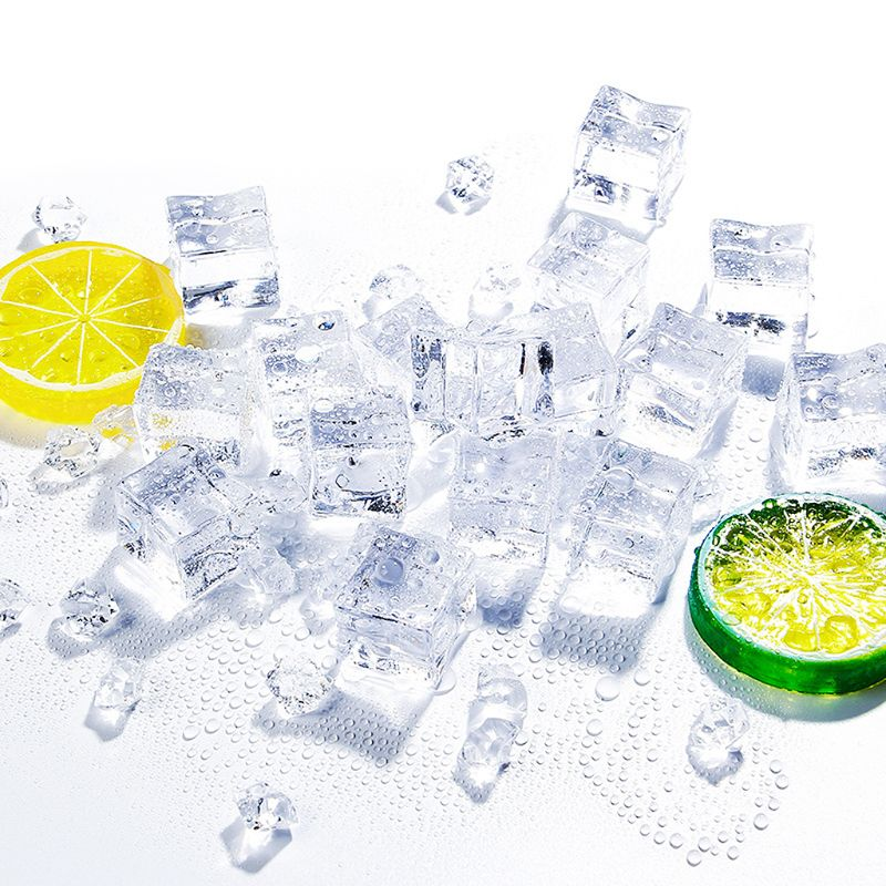 Artificial Ice Cubes Crushed Transparent Fake Ice Square Shape Acrylic For Photography Props Home Kitchen Decoration