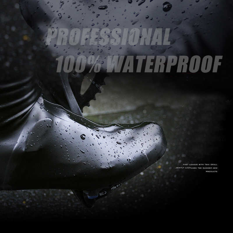 SOOMOM Neoprene Shoe Cover Waterproof Cycling Shoes Cover MTB Rode Bicycle Shoes Cover Professional Windproof Zipper Overshoes