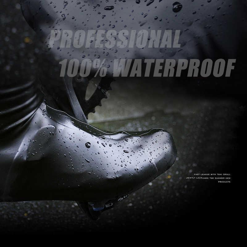 Soomom neoprene sapato capa à prova dwaterproof água sapatos de ciclismo capa mtb rode sapatos de bicicleta capa profissional à prova vento zíper overshoes