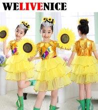 Baby Girl Clothes Sunflower Girls Dress Children Girls Clothes Kids Wedding Party Dress Sunflower Costume #7145  sc 1 st  AliExpress.com & Popular Sunflower Baby Costume-Buy Cheap Sunflower Baby Costume lots ...