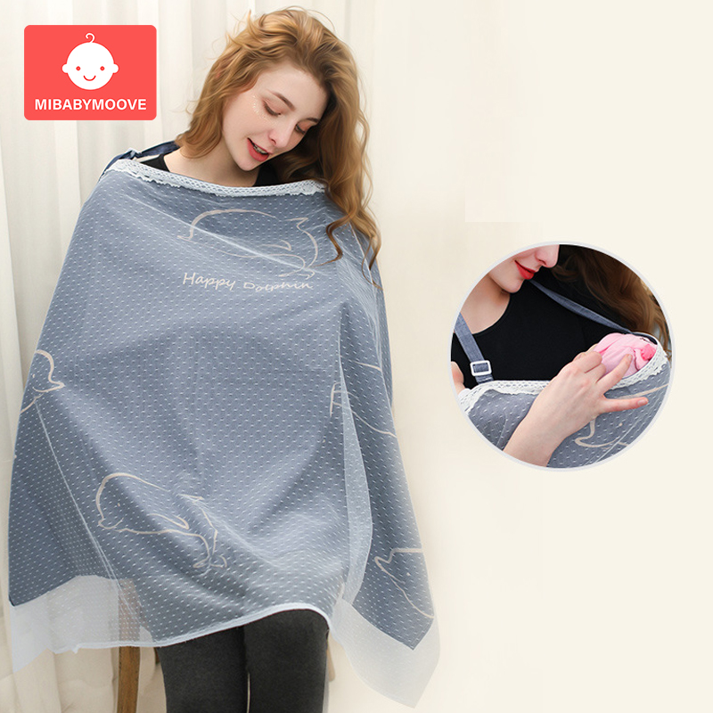 Nursing Covers Breastfeeding Cover Muslin Privacy Apron Outdoors Mother Feeding Baby Breathable