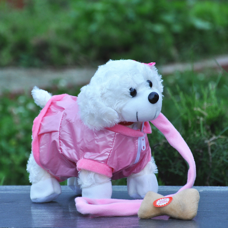 2018 New Electronic Pet Toys English Song Singing Walking Plush Dog Electronic Dog Toys Kids Brinquedos Toys Gifts