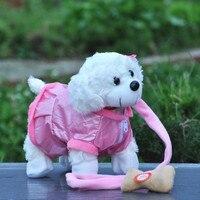 2015 New Electronic Pet Toys Singing Walking Plush Dog Electronic Dog Toys Kids Brinquedos Toys Gifts