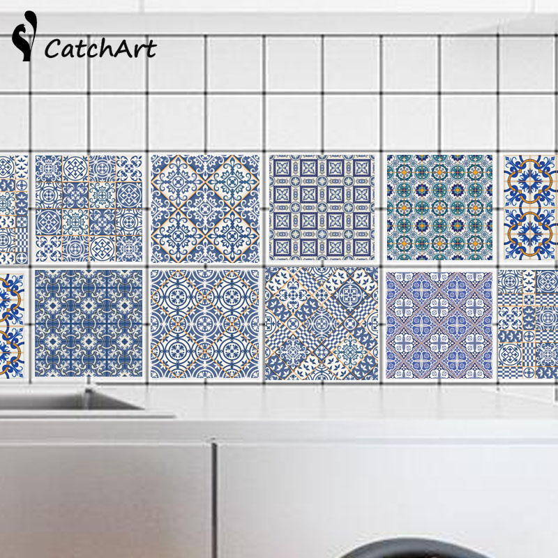 mageschneiderte pvc wandaufkleber bad wasserdicht selbstklebende tapete kche mosaik fliesen aufkleber fr wnde aufkleber wohnkultur - Fliesen Tapete Kuche