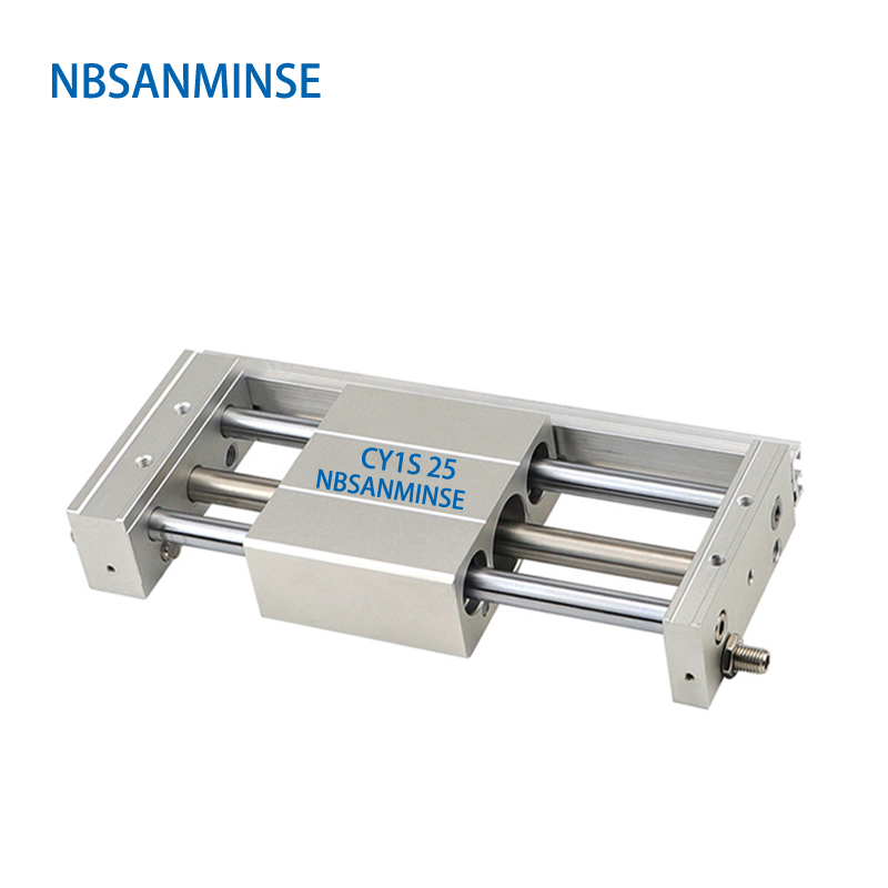 CY1S 25mm Bore Coupled Rodless Cylinder Air Slide Type Pneumatic Magnetically SMC Type Automation Printing Textile Machine