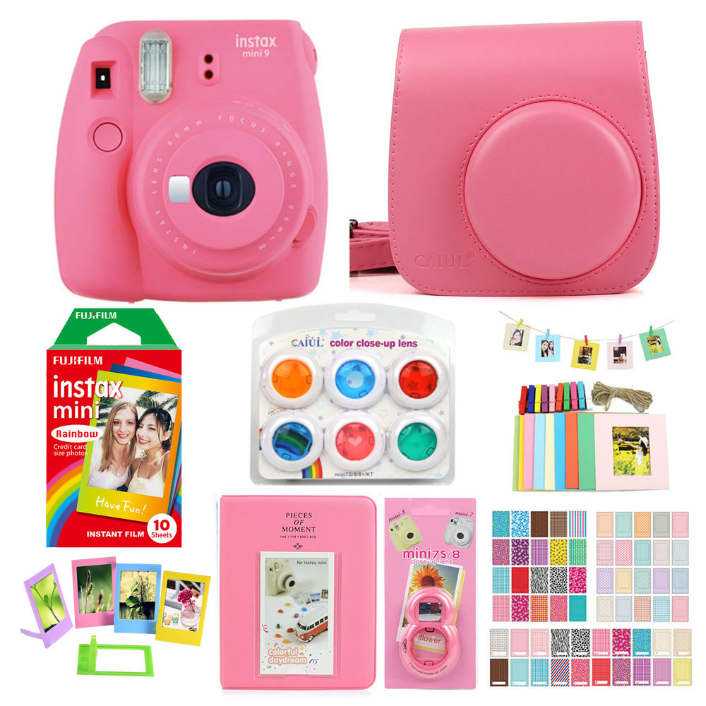Fujifilm Instax Mini 9 Instant Printing Camera With Film Photo Paper Camera Protection Case Bag Accessories