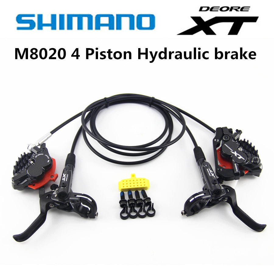 Shimano DEORE XT M8000 M8020 Bremse 4 Kolben HydraulicBike Disc Bremse ICE-TECH PADS Vorne Hinten DH 900mm/1600mm