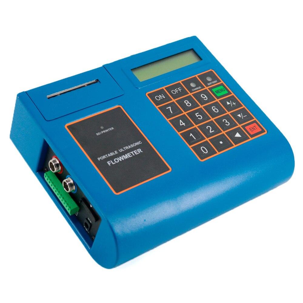 Бесплатная доставка Высокая производительность ультразвуковой расходомер портативный расходомер жидкости функция печати преобразовател