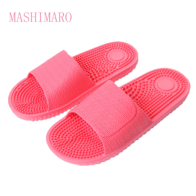 2017 Women's Fashion Candy Color Indoor Massage Slippers Lightweight Solid EVA Home Non-slip Massage Slippers Chinelo Feminino