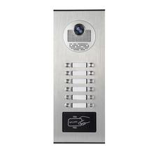 YobangSecurity металлический водонепроницаемый чехол, открытый RFID контроль доступа, дверной звонок, камера для квартиры, видеодомофон, домофон, система