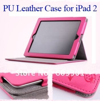 PU leather case for iPad2/3/4, Protective cover for iPad 2/3/4, For iPad 2/3/4 case, Many colors, free shipping