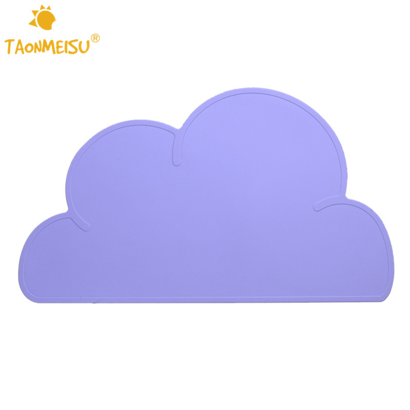 Cute Colorful Silicone Cloud Pet Pads Supplies Pet Dog Puppy Cat Feeding Mat Pad PVC Bed Dish Bowl Food Water Feed Placemat New