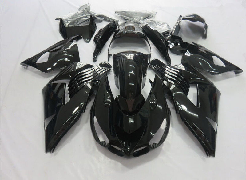 Motorcycle Gloss Black Complete Bodywork ABS Plastic Injection Molding Fairing For Kawasaki Ninja ZX14 14R ZZR