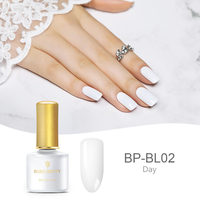 BORN PRETTY 6ml White Black Nail Gel Polish Basic Line