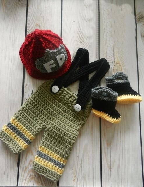 d477c53dd48 Free shipping Baby Crochet Firefighter Hat